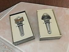 Bed Bath & Beyond Wine Bottle Stoppers - Lot of 2 - Shopper Tote & Hobo Handbag
