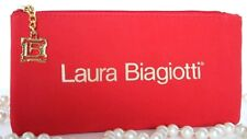NEW~Laura Biagiotti Red Neoprene CASE JEWELERY SUNGLASS Storage Bag TRAVEL Italy