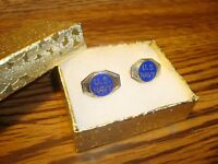 #2 two Vintage U.S.Navy: UNITED STATES NAVY Lapel Pin W/Safety Pin Back Enameled