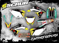 SCRUB Suzuki RMz 450 2008 - 2017 Grafik Sticker Dekor-Set '08-'17