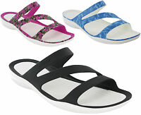 Crocs Sandals Swiftwater Beach Holiday Womens Slip On Graphic Open Toe UK 4-9