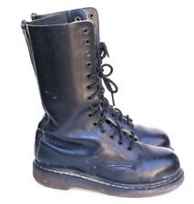 Dr. Martens Made England Black Leather 14 Eyelet Mid Work Military Boots 5 US 7