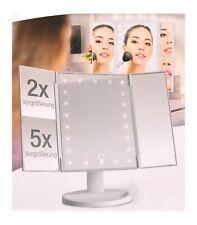 Specchio Cosmetico LED per Trucco Klappspiegel Ingranditore Viaggio USB