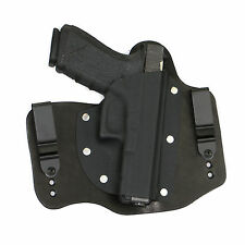 FoxX Leather & Kydex IWB Hybrid Holster Glock 20, 21 & 29  Black Right Conceal