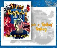 Doctor Who Birthday Card. Jodie Whittaker, 13th Doctor, Cybermen, Daleks, Tardis