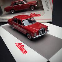 New 1/64 SCHUCO Mercedes Benz 200D Sedan diecast car model dark Red 45 201 7800