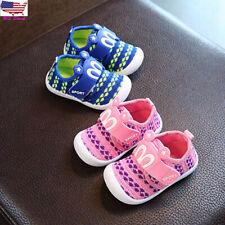 Toddler Kids Baby Boy Girl Cartoon Squeaky Anti-slip Crib Single Shoes Sneakers