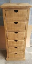 SOLID WOOD RUSTIC CHUNKY PLANK 6 DRAWER TALLBOY **MADE TO MEASURE**
