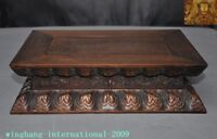 Old Chinese Buddhism Temple Huanghuali Wood Carved storage box Buddha stand Base
