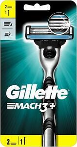 Gillette Mach 3 Razor + 2 Shaving Blades New Sealed - SAME DAY DISPATCH