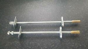 2 Cast Iron Radiator Wall Brackets Stays Fixings
