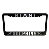 2 UNITS Miami Dolphins Black Plastic License Plate Frame Truck Car Van