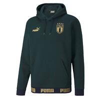 ITALIA FIGC FELPA CAPPUCCIO VERDE RINASCIMENTO 2019-20 ITALIA HOODY GREEN SWEAT
