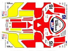 #16 Dyson Racing 1985 Porsche 962-956 Imsa 1/64th Ho Scale Slot Car Decal