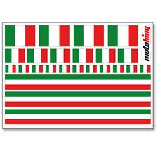 ITALIEN AUFKLEBER | FLAGGEN STICKER | HELM FAHRRAD MODELLBAU BOBBYCAR AUTO