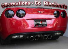 C6 Chevy Corvette Rear Blackout Kit - Blackouts Z06 ZO6