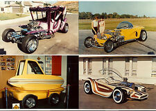 a ED Big Daddy ROTH Set of 8 RAT FINK Color Car Photos 1991 HOT ROD Custom TRIKE