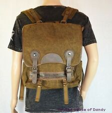 Mens Canvas Washed HEAVYWEIGHT Cotton Laptop Up to 15'' Backpack (K6027) Brown