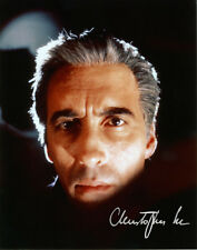 CHRISTOPHER LEE AS DRACULA Color Photo with RP Autograph