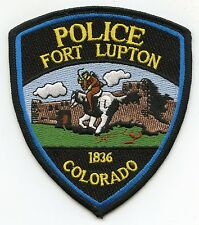 FORT LUPTON COLORADO CO POLICE PATCH
