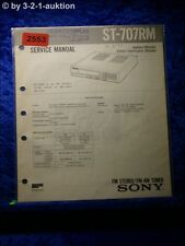 Sony Service Manual ST 707RM Tuner  (#2553)
