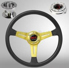 Gold Steering Wheel Quick Release PO Combo For Hyundai Accent Genesis Tiburon