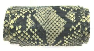 Cobra Hide Leather Snakeskin Reticulated Python Printed-on Lifted scales Gray