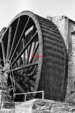 PHOTO  1962 WATH NORTH YORKSHIRE FOSTER BECK FLAX MILL THE WATERWHEEL IS POWERIN