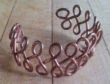 Unique Handmade Single Copper Wire Bangle Bracelet Cuff - Copper Christy Designs