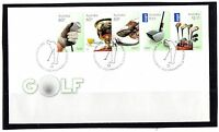 2011 Australia Golf Set Of 5 FDC, Very Good Condition, International Stamps