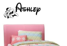PERSONALIZED NAME MINNIE MOUSE WALT DISNEY Custom Vinyl Wall Decal Sticker 36""