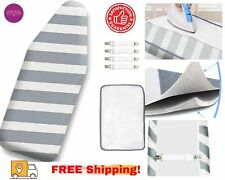 12.5 x 30 Inch Mini Ironing Board Cover Extra Thick Pad 100% Cotton Elastic New