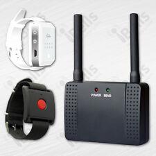 Pflegeruf Set: 1 Armband-Ruf-Sender+ 1 Armband-Ruf-Empfänger+ Repeater