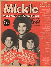 Michael Jackson on Magazine Cover 1972    David Cassidy  David Bowie  Elton John