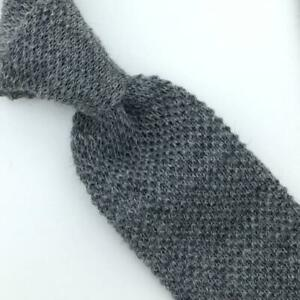 Private Club Tie Wool Beehive Knit Square/Trunk End Necktie Men's Skinny I16-99