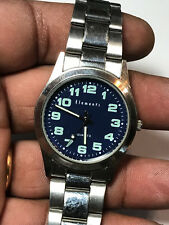 Men's Silver Tone Elements ELE0089 Analog Watch