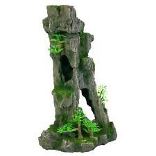 Trixie Upright Rock Formation, Caves & Plants Aquarium Fish Tank Decoration 28cm