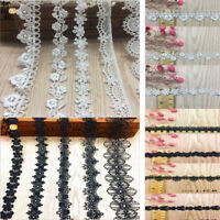1-10Yards Cotton Lace Edge Trim Wedding Ribbon Applique DIY Sewing Craft