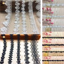 1/10Yards Polyester Lace Edge Trim Wedding Ribbon Applique DIY Sewing Craft