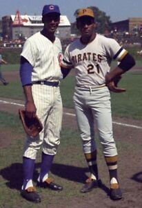 "Roberto Clemente & Ernie Banks - 8"" x 10"" Photo - 1960's - Wrigley Field"