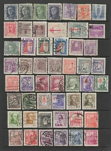 Spain mid period collection, 118 stamps