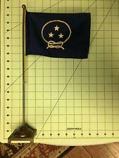 Us Navy Vice Admiral (apprentice) Flag. Bronze staff, gold halyard. All original