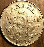 1926 CANADA 5 CENTS COIN KEY DATE COIN!