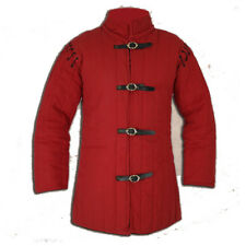 Handmade Item Medieval Thick Padded Red Gambeson Play Movies Custome Sca
