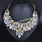 Fashion-Rhinestone-Crystal-Chunky-Statement-Bib-Pendant-Chain-Choker-Necklace