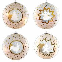 Sirius Luna LED Christmas Baubles Hanging Xmas Tree Light Festive Glitter Elf