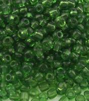 Glasperlen Rocailles 4mm 6/0 Grün Transparent 450g Schmuck BEST A262