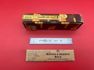 """Brown and Sharpe 599-315-404 4"""" Rule  IN STOCK  *WITH BOX*   super rare!!"""