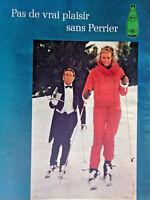 PUBLICITÉ DE PRESSE 1971 PAS DE VRAI PLAISIR SANS PERRIER - SKI NEIGE