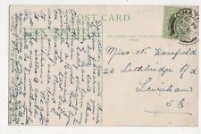 Miss N Horsefield Lethbridge Road Lewisham 1909 629b